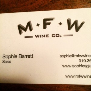 My new business card.