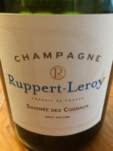Unlike most producers of rosé Champagne, Ruppert-Leroy has chosen to use a dark bottle rather than a clear one.