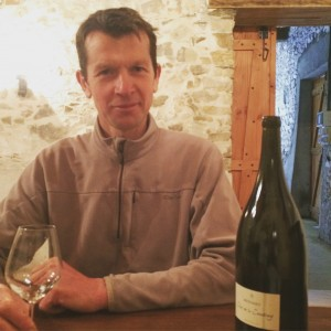 Stéphane with a magnum of 2012 Clos de Coudray.