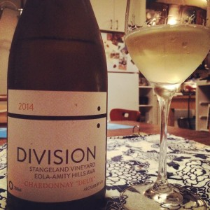 Dreamy Chardonnay from Division Winemaking Company.