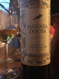 Columbu Malvasia di Bosa from Sardinia might be the ultimate Vino da Meditazione.