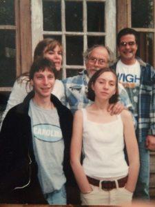 Front: Alex, Sophie. Back: Margaret, Bobby, Karl.