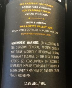Information about the wine can feature on the back label as well.
